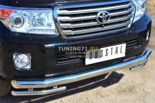 Toyota Land Cruiser 200. 2012- Защита переднего бампера d76 (секции) d42 (уголки) TLCZ-001643